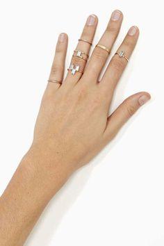 Crystalized Ring Set