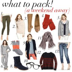 jillgg's good life (for less) | a style blog: what to pack! {weekend away}