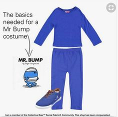 You're spoiled for choice when it comes to Mr Men costumes for World Book Day. For a Mr Bump costume all you need are blue trousers, a blue jumper, blue woolly hat and some bandages to wrap around.