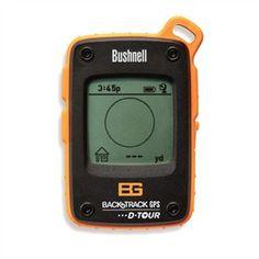 The Bushnell Bear Grylls BackTrack D-Tour GPS navigation device.