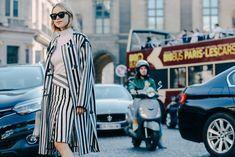 Street looks à Paris #stripes