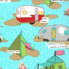 Glamping One Yard Blue Moon Tents and Trailers by TheClothParcel, $11.00