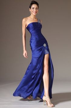 eDressit 2014 New Blue Single-Strap High Slit Evening Gown/Prom Dress (00140205) - USD 183.06