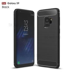 Wholesale Carbon Fibre Brushed TPU Gel Case for Samsung Galaxy S9 - Black from China
