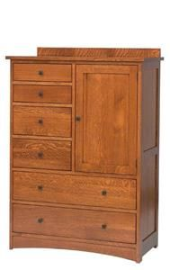 Amish Jacobson Door Chest with Six Drawers