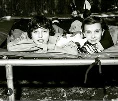 Millie Bobby Brown and Finn Wolfhard in Dazed and Confused Mag
