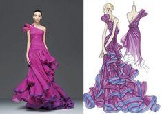 Croquis de Marcas e Estilistas Famosos   A magia da ilustração de Moda - Versace
