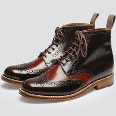 Sharp Brogue Boots by Grenson