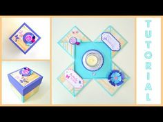 DIY Paper Crafts - How to - Exploding Box Kit / Explosion Box Card for b...