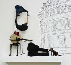 by Lauren van Helmond Creative Inspiration, Mixed Media Art, Illustration, How To Draw Hands, Arts And Crafts, England, Van, Dolls, Artwork