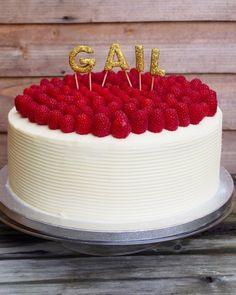 Personalised birthday cake