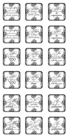Black & White Printable General Birthday Sentiments