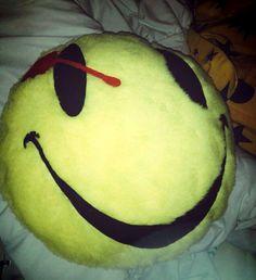Cojín de #Watchmen, el smile del comediante, aunque yo soy más fan de #Rorschach