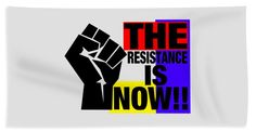 Fair Free Elections Beach Towel featuring the mixed media The Resistance by Otis Porritt
