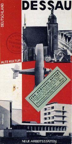 Herbert Bayer | Herbert Bayer, cover for brochure issued by Dessau tourist office ...