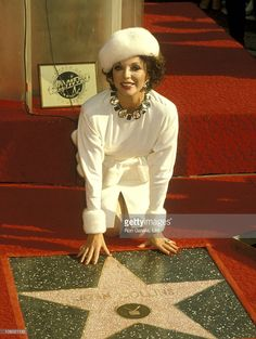 Joan Collins' Star on Hollywoods Walk of Fame 1983