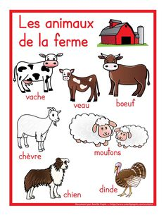 French Education, Science For Kids, French Immersion, Farm Animals, Language, Comics, School, Illustration, London