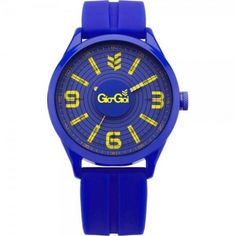 Gio-Goi Mens Blue Rubber Strapped Bass Head Watch