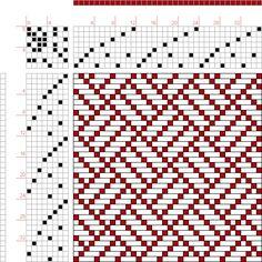 draft image: Figure 217, A Handbook of Weaves by G. H. Oelsner, 8S, 8T