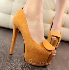 2014 New Arrival #Sweet Girl #Peep Toe #Platform High #Heel #Shoes