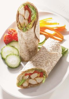 Wraps au poulet Healthy Dessert Recipes, Diet Recipes, Cooking Recipes, Superfood, Food In French, Wrap Sandwiches, Fajitas, Family Meals, Food Videos