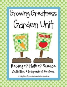 Growing Greatness - fun new plant and garden unit!