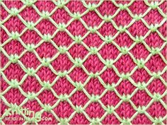 Royal quilting stitch is easy to do, but takes about half the time to knit because you slip most of the stitches. This knitting pattern is perfect for a cardigan or a pillow, in fact, for any knits.