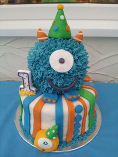Little monster birthday cake... yes I realize he just had a birthday...                                                                                                                                                                                 More