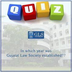 #GLSQuiz  In which year was Gujarat Law Society established?? #GLSUniversity