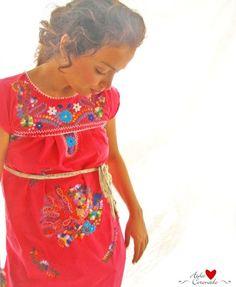 Beautiful handmade Mexican embroidered dress mini by AidaCoronado, $98.00