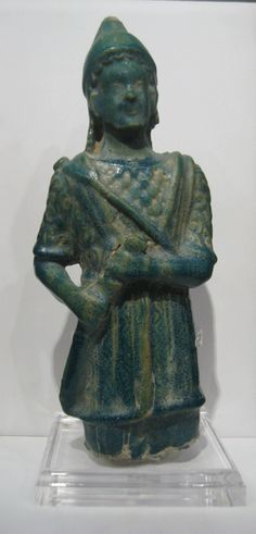 Pathian Faience Figure of a Warrior -  Origin: Syria Circa: 100 AD to 300 AD