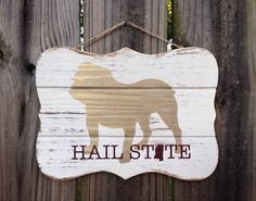 Mississippi State Bulldog Art Sign