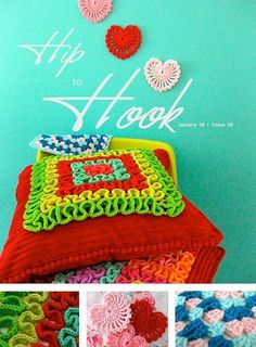 crochet ruffles on your bright pillow.