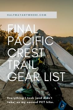 Everything that worked, didn't work, and that should have worked on my second thru-hike of the Pacific Crest Trail. Thru Hiking, Camping And Hiking, Hiking Gear, Camping Tips, Pacific Coast Trail, West Coast Trail, John Muir Trail, Beach Trip, Beach Travel