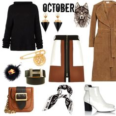 A fashion look from October 2015 featuring Haider Ackermann sweaters, Frame Denim coats and River Island mini skirts. Browse and shop related looks.