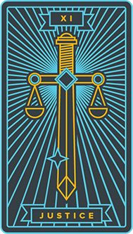 May 31 Tarot Card: Justice (Golden Thread deck) You are free to choose, but you are not free from the consequences of your choices Major Arcana Cards, Tarot Major Arcana, Golden Thread Tarot, Sailor Moon, Justice Tarot, Law Icon, Le Tarot, The Hanged Man, Tarot Learning