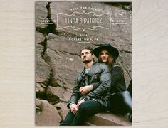 Rustic Boho Vintage Photo Save the Date by PaperInvitations