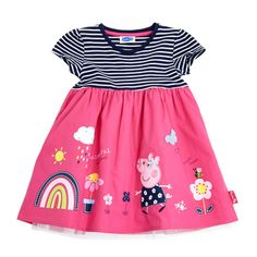 pink Younger Girls Peppa Pig Dress
