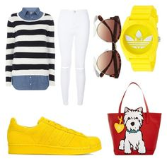 """""""colour"""" by giselaturca on Polyvore featuring adidas Originals, Dorothy Perkins, adidas, River Island, Marc Tetro, women's clothing, women, female, woman and misses"""