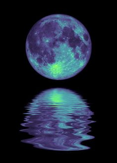 blue moon over water