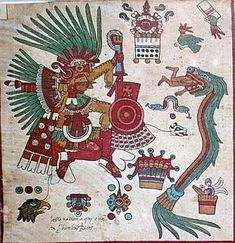 The Codex Borbonicus consists of 32 leaves of amátl fig paper and is likely the oldest of the surviving Aztec manuscripts from Mexico.    It was produced early in the 16th century and although 1507 is bandied around as the date, it's more likely the work was completed after the conquest by the Spanish in 1521. The contents are definitely all pre-Columbian however.    The majority of the scroll displays a divinatory calendar from which one could derive predictions about a birth from an…