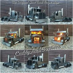 """Original Semi Truck Firepit bbq Stove Logburner Woodburner Grill.. Handcrafted by the """"Original Creator"""" of the Truck & Lorry wood burner stoves, Scottish Artist, Barry Wood.."""