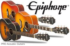 Epiphone PRO Acoustic Guitars... History Style Modern Sound. Read about them at: http://www.epiphone.com/News/Features/2016/Epiphone-PRO-Acoustic-Guitars.aspx