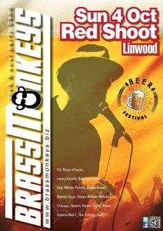 Brass Monkeys Red Shoot Inn Beer Festival Bryan Adams, Kings Of Leon, Robbie Williams, Lenny Kravitz, Marvin Gaye, Beer Festival, James Brown, Duffy, Green Day
