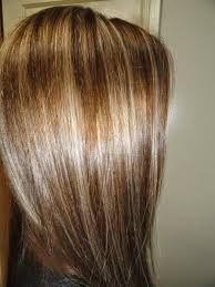 straight chocolate brown hair with blonde highlights - Google Search