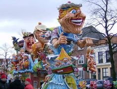 Float for the parade in Bergen Netherlands, made all from Paverpol