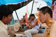 It purifies itself in the Ganges. It is believed that it is my missions to make 'pleasant' in people's feeling.