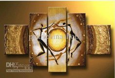 MODERN ABSTRACT HUGE LARGE CANVAS ART OIL PAINTING dancing (no frame) free shipping