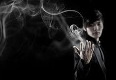 Yu Ho-Jin, The Manipulator releases smoke from his hand.