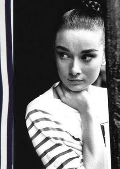 Audrey Hepburn / breton shirt  www.fashioninfilm...